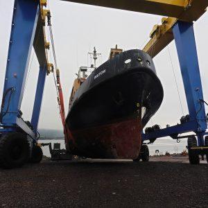 Vessel on hoist - December 2017