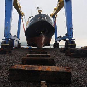 Vessel on hoist December 2017